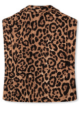 REFIND DEPARTMENT RIVER QUILTED LEOPARD GILET