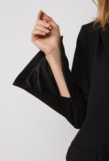 SUMMUM WOMAN 1s1050-11538 BLAZER GABARDINE BLACK