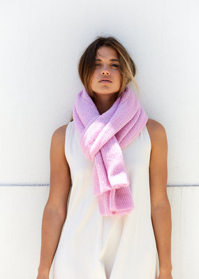 LESELLES KNITWEAR MOHAIR SCARF JILLE WILD ORCHID