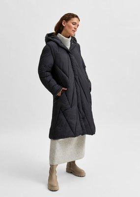 SELECTED FEMME SLFTRINE COAT B BLACK