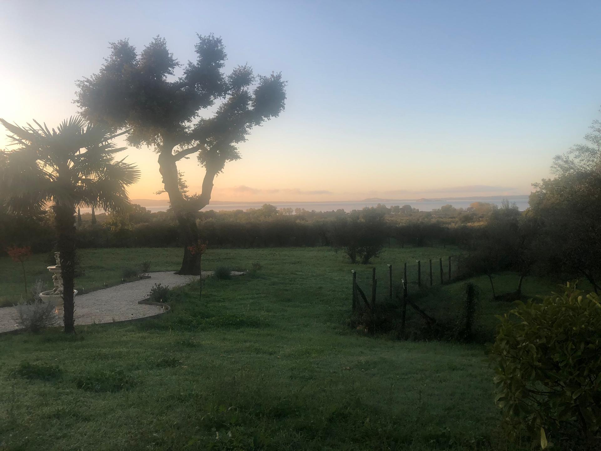 Uitzicht op het meer van Bolsena