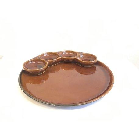 Bruine borden vintage