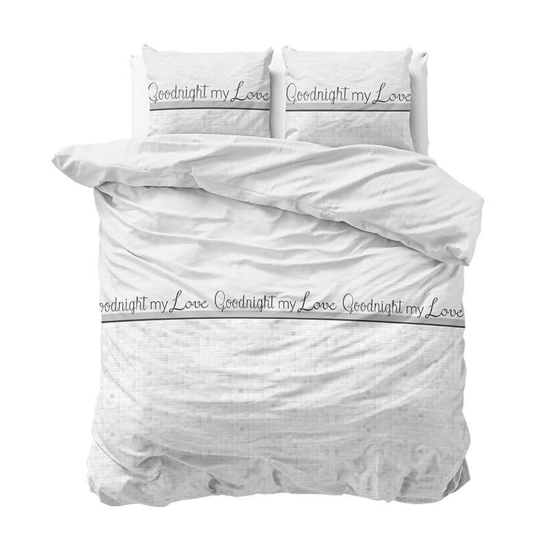 Sleeptime Elegance Goodnight My Love - Wit 2 1-persoons (140 x 220 cm + 1 kussensloop) Dekbedovertre