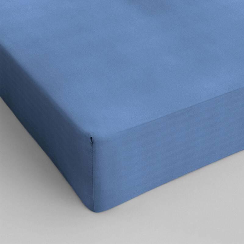 DreamHouse Bedding Verkoelend Hoeslaken Katoen - Blauw 90 x 220