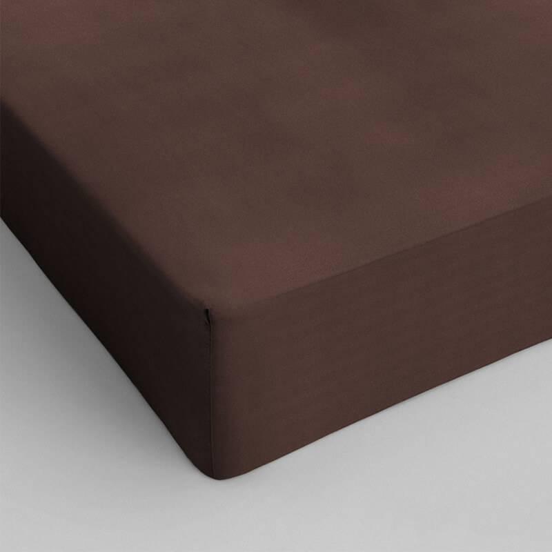 DreamHouse Bedding Hoeslaken Katoen - Bruin 80 x 200