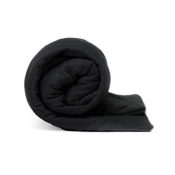 Afbeelding van 2 Pack Jersey Hoeslaken Maat:: 140x200 cm Zwart Casa Collection