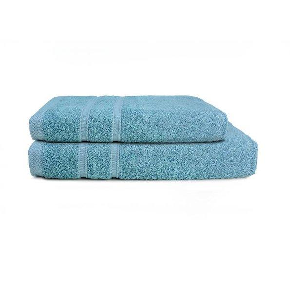 One Towelling Handdoek - Bamboo - Aqua