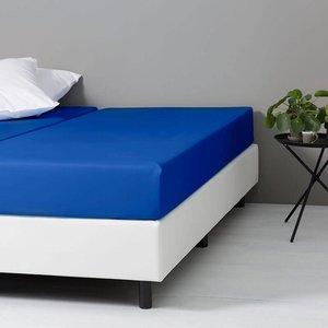 DD Katoenen Hoeslaken - Royal Blauw