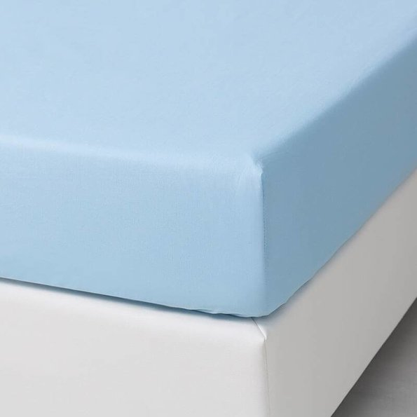 Dekbed-Discounter DD Verkoelende Katoenen Hoeslaken - Blauw
