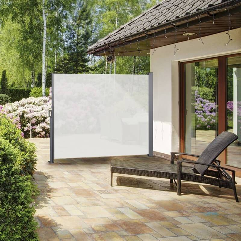 Afbeelding van 909 Outdoor Oprolbaar Windscherm Creme - 150 x 300 cm