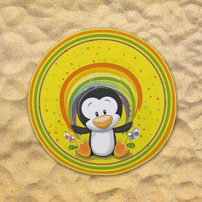 Rond Strandlaken - Pinguin