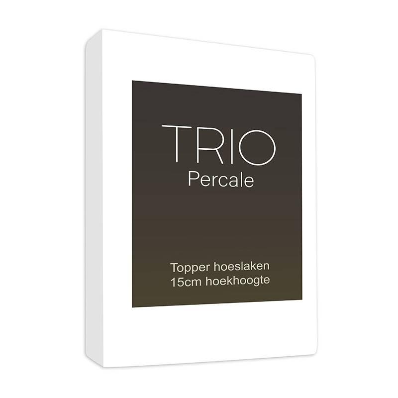 Productafbeelding voor 'Sleepy Trio Topper Hoeslaken Egyptisch Katoen - Wit 90 x 220'