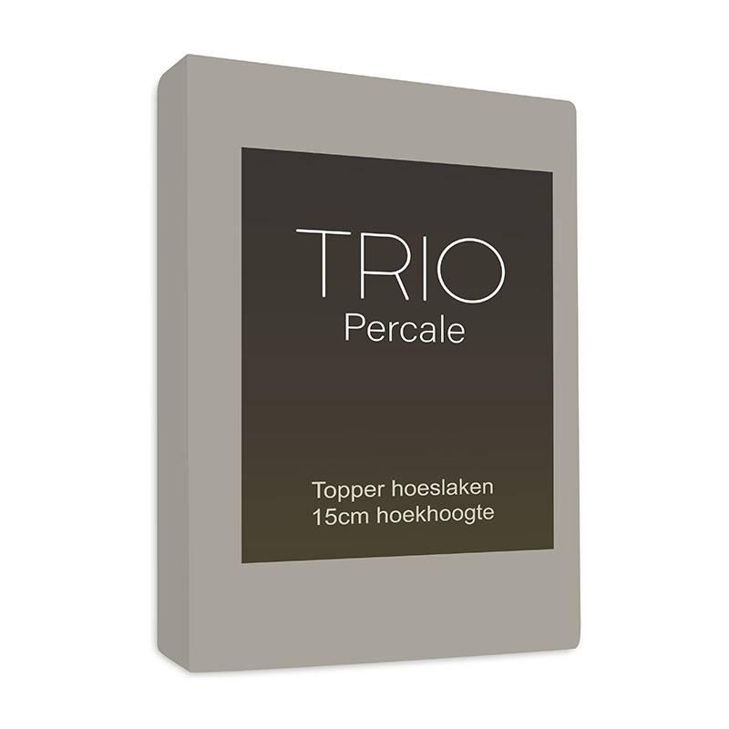 Productafbeelding voor 'Sleepy Trio Topper Hoeslaken Egyptisch Katoen - Taupe 160 x 200'