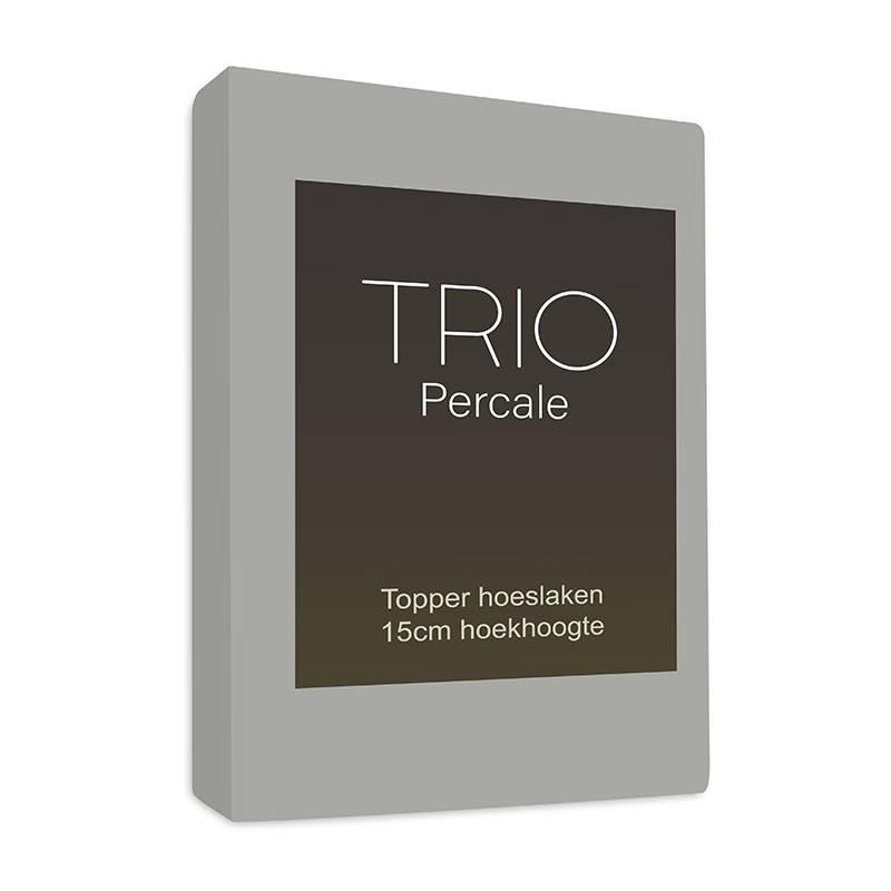 Productafbeelding voor 'Sleepy Trio Topper Hoeslaken Egyptisch Katoen - Grijs 140 x 200'