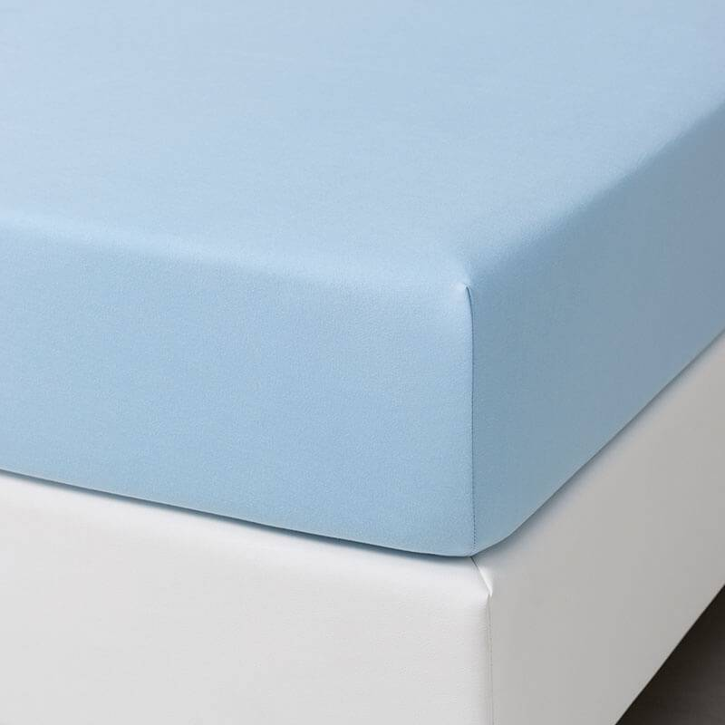 Dekbed-Discounter Jersey Stretch Hoeslaken - Blauw 190/200 x 200/210
