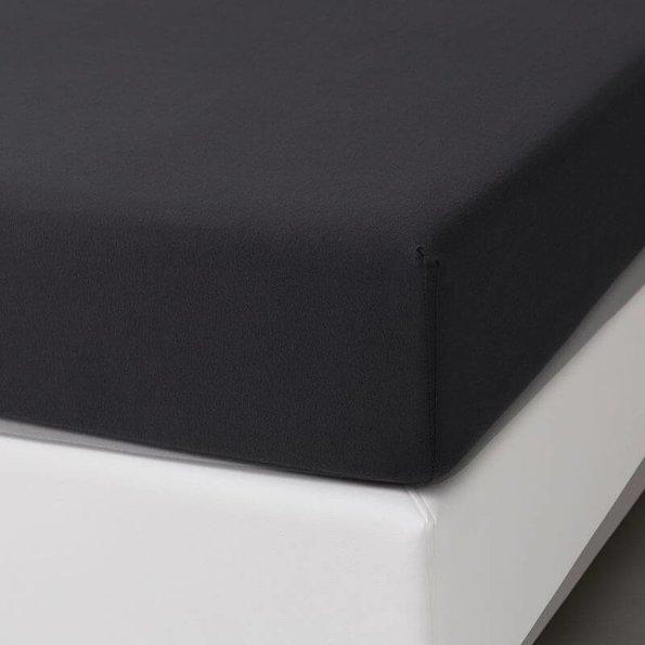 Dekbed-Discounter Jersey Stretch Hoeslaken - Zwart