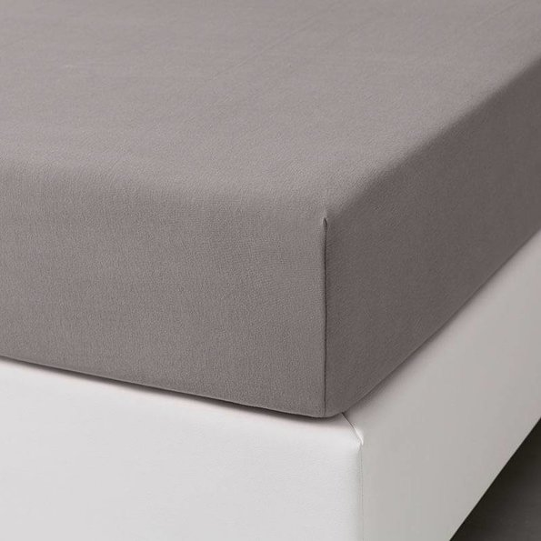 Dekbed-Discounter Jersey Stretch Hoeslaken - Taupe