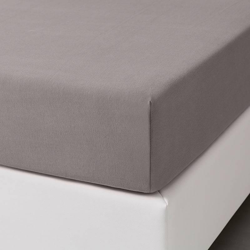 Dekbed-Discounter Jersey Stretch Hoeslaken - Taupe 100/120 x 200/210