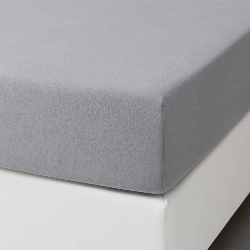 Dekbed-Discounter Jersey Stretch Hoeslaken - Lichtgrijs 190/200 x 200/210