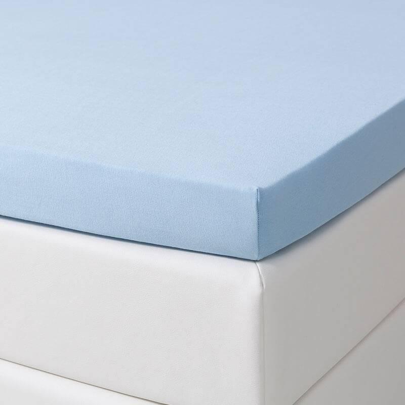 Dekbed Discounter Jersey Stretch Splittopper Hoeslaken - Blauw 180 x 200/210 cm
