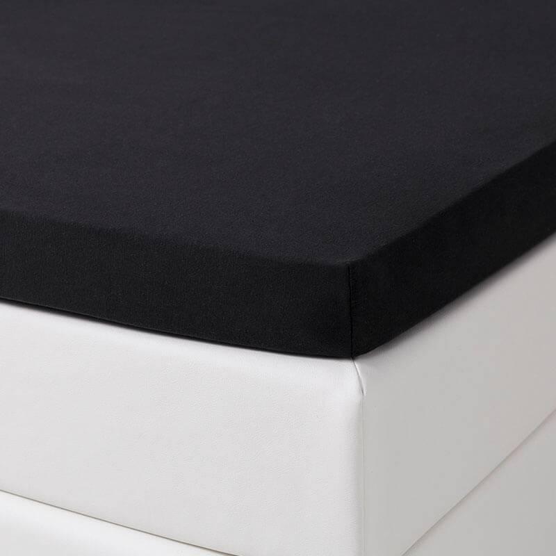 Dekbed Discounter Jersey Stretch Splittopper Hoeslaken - Zwart 160 x 200/210 cm
