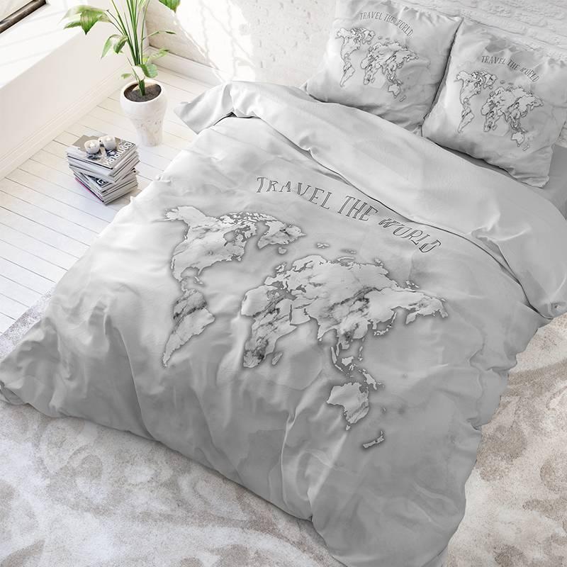 DreamHouse Bedding Marble World Lits-jumeaux (240 x 220 cm + 2 kussenslopen) Dekbedovertrek