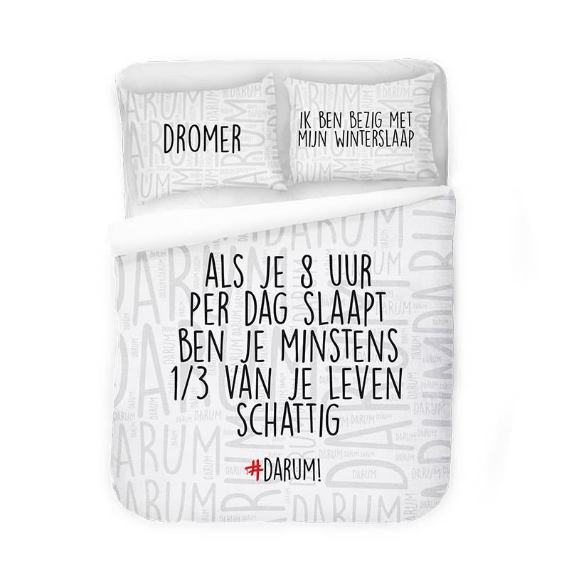 Afbeelding van Dekbedovertrek #DARUM! Schattige Slapers Wit 2 Persoons (200x220 cm)