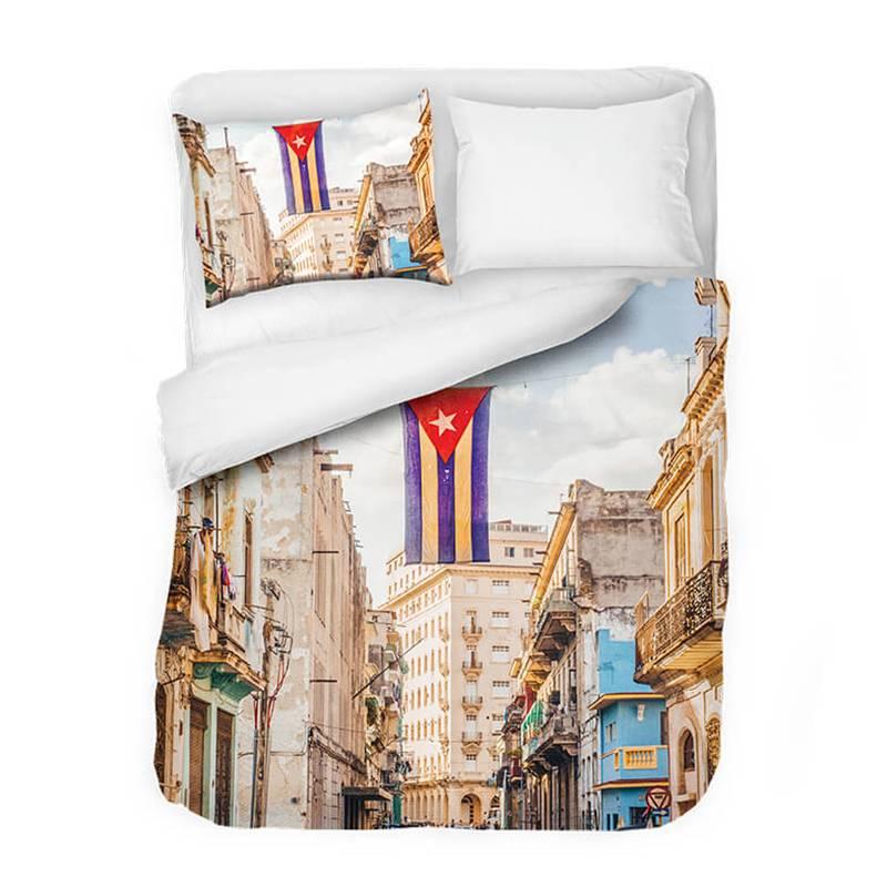Afbeelding van Dekbedovertrek Havana Flag DLC Modern 1 Persoons (140x220 cm)