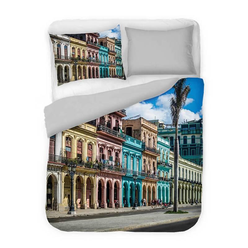 Afbeelding van Dekbedovertrek Cuba Capital DLC Modern 2 Persoons (200x220 cm)