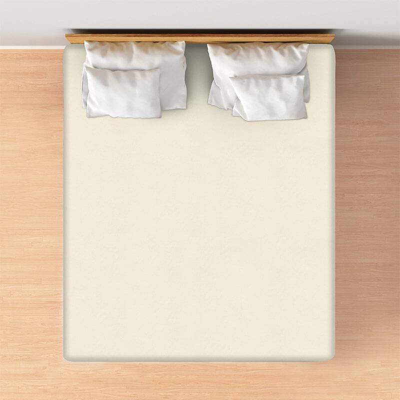 Productafbeelding voor 'Casa Collection VOORDEELPACK: Jersey Hoeslaken - Creme Maat:: 80/90 x 200'