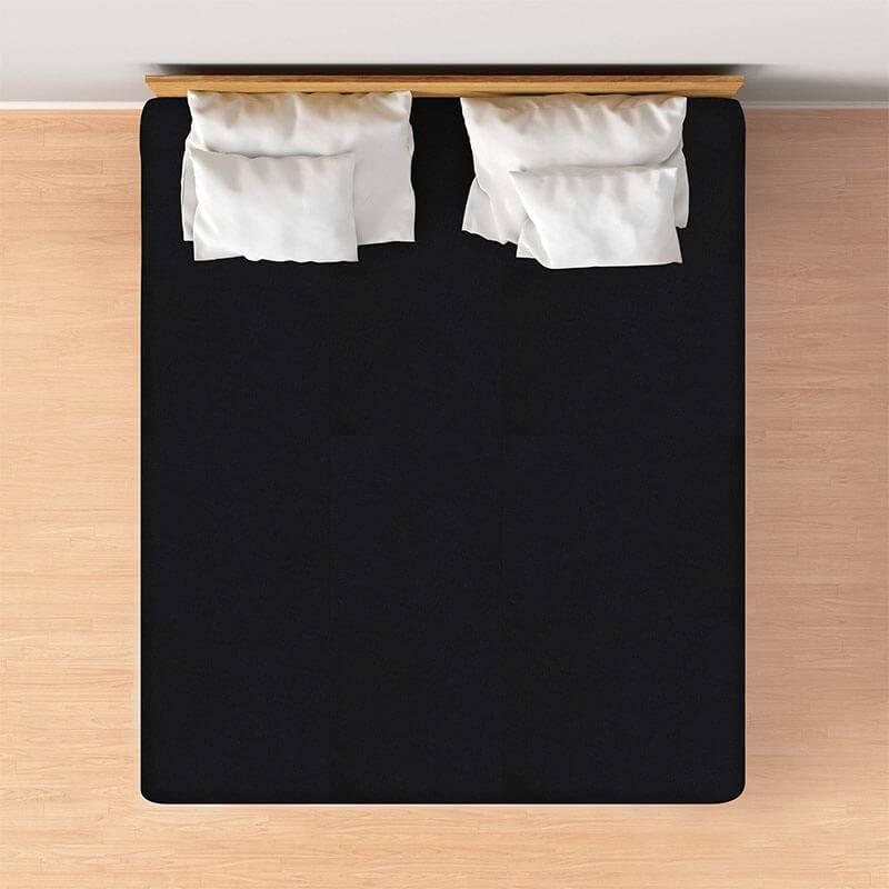 Productafbeelding voor 'Casa Collection VOORDEELPACK: Jersey Hoeslaken - Zwart Maat:: 80/90 x 200'