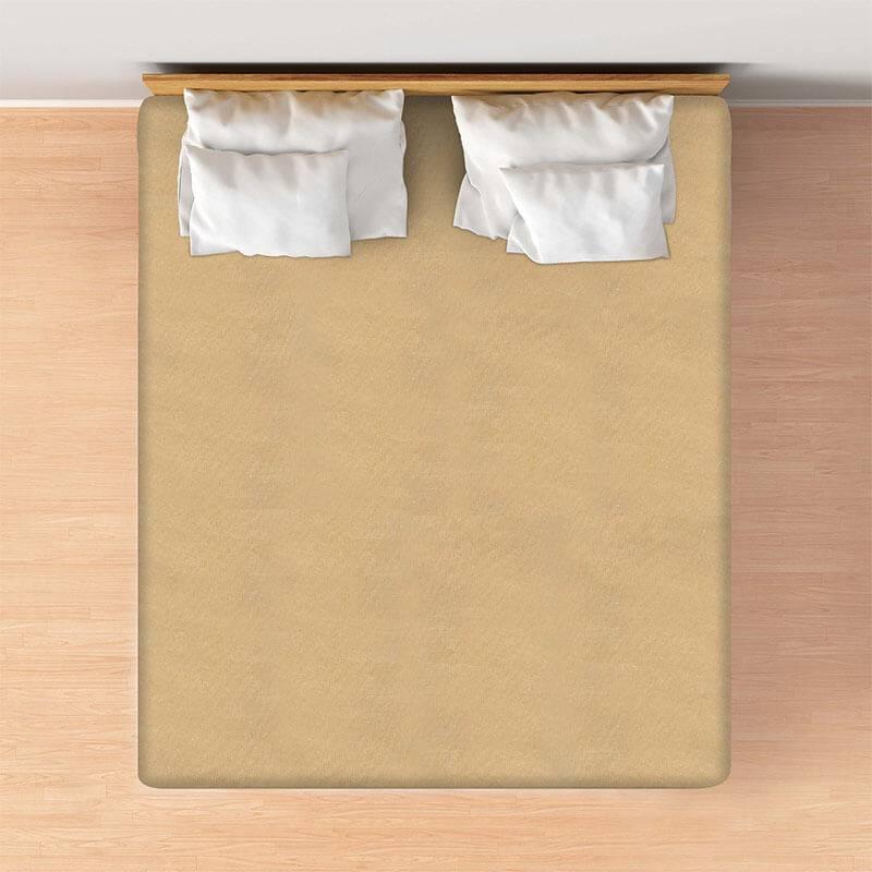 Productafbeelding voor 'Casa Collection VOORDEELPACK: Jersey Hoeslaken - Zand Maat:: 80/90 x 200'