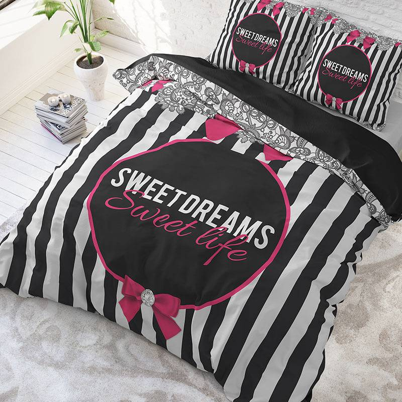 Productafbeelding voor 'DreamHouse Bedding Sweet Life Lits-jumeaux (240 x 220 cm + 2 kussenslopen) Dekbedovertrek'