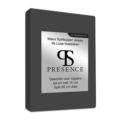 Maco Jersey Splittopper Hoeslaken - Platinum - Antraciet