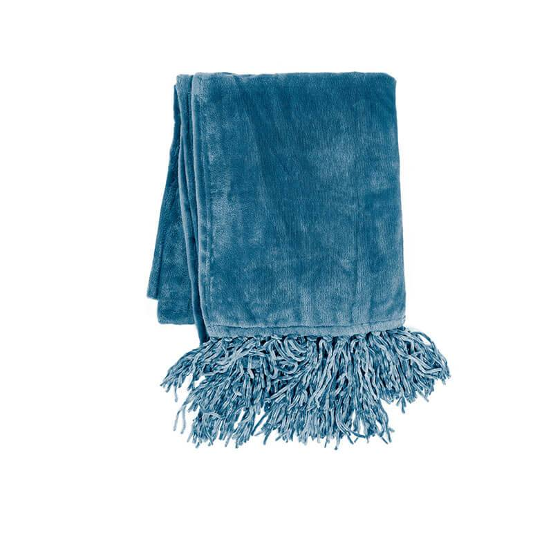 Tiseco Home Studio Plaid - Fluffy - Blauw