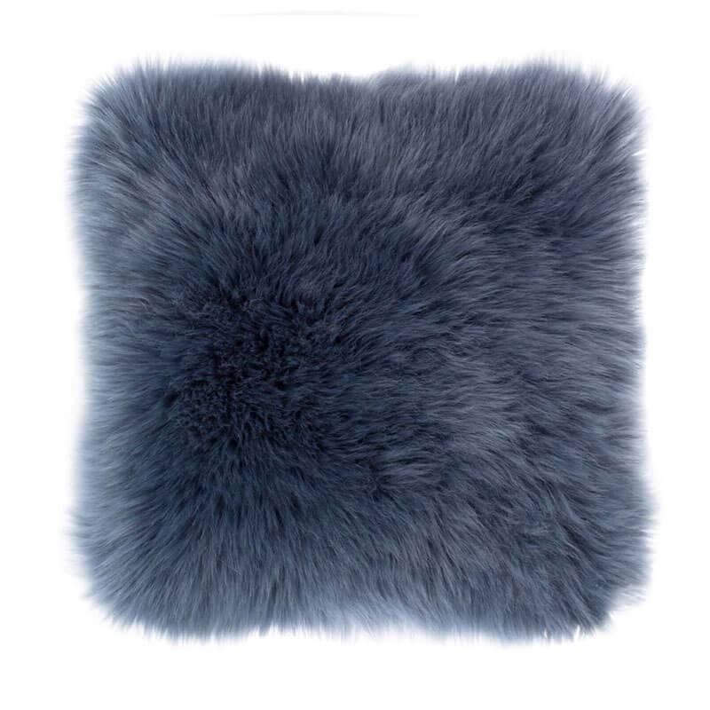 Tiseco Home Studio Sierkussen - Fluffy - Blauw