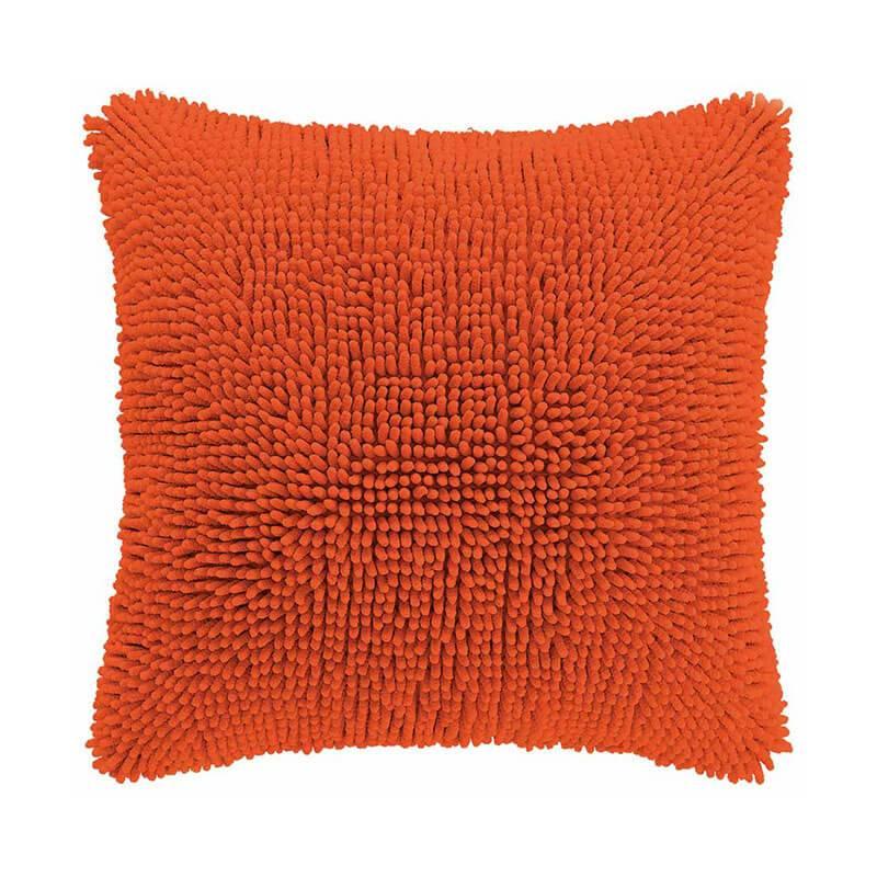 Tiseco Home Studio Sierkussen - Shaggy - Oranje