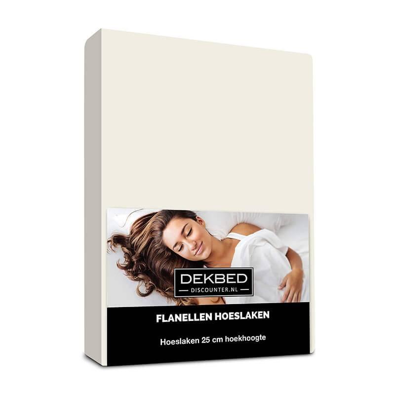 Dekbed-Discounter Verwarmend Flanel Hoeslaken - Creme 180 x 200