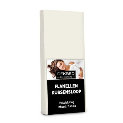 DD Flanellen kussenslopen - Creme