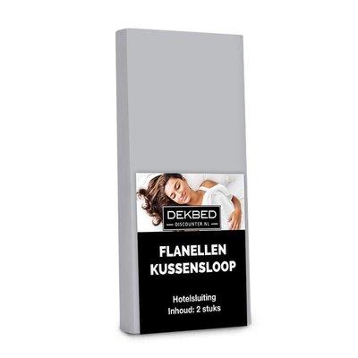 DD Flanellen kussenslopen - Grijs