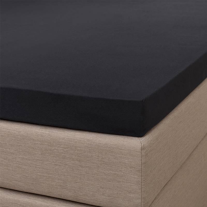 Signature Jersey Topper Hoeslaken - Signature - Zwart 180 x 200/210