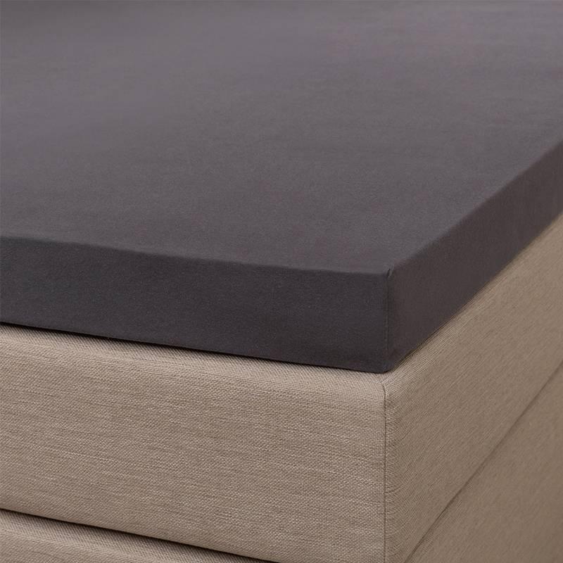 Signature Jersey Splittopper Hoeslaken - Signature - Antraciet 200 x 200/210