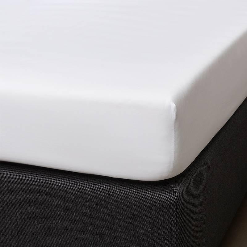 Signature Hoeslaken Satijn - Wit 160 x 200 cm