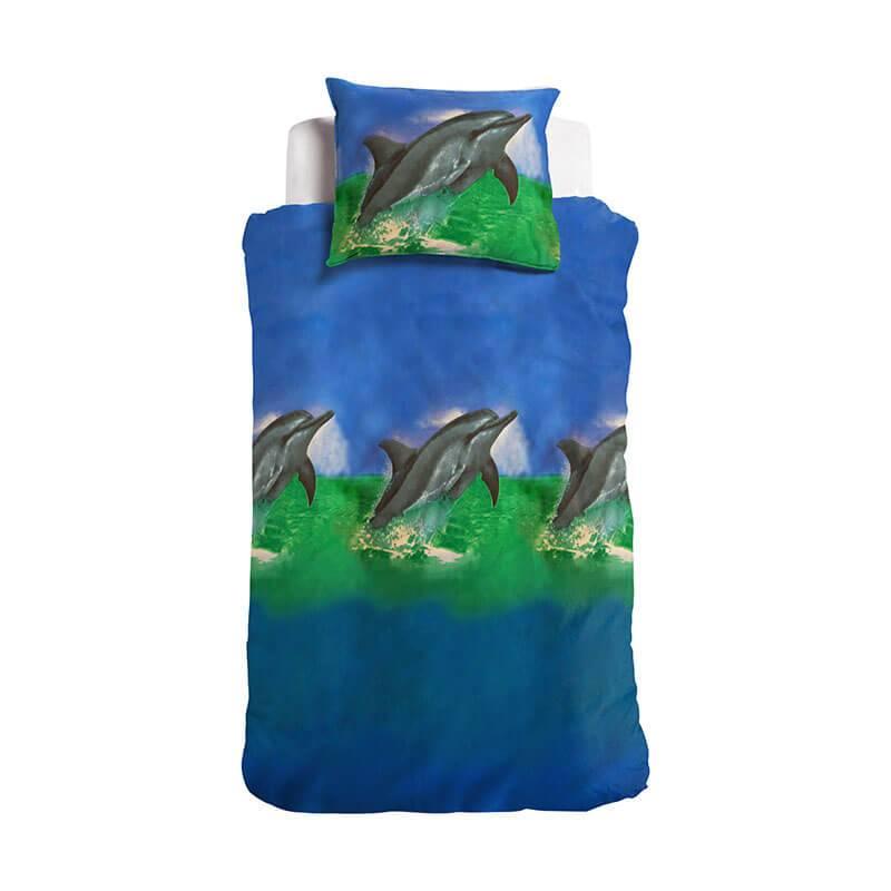 Afbeelding van Kinderdekbedovertrek Dolfijn Cameleon Dieren