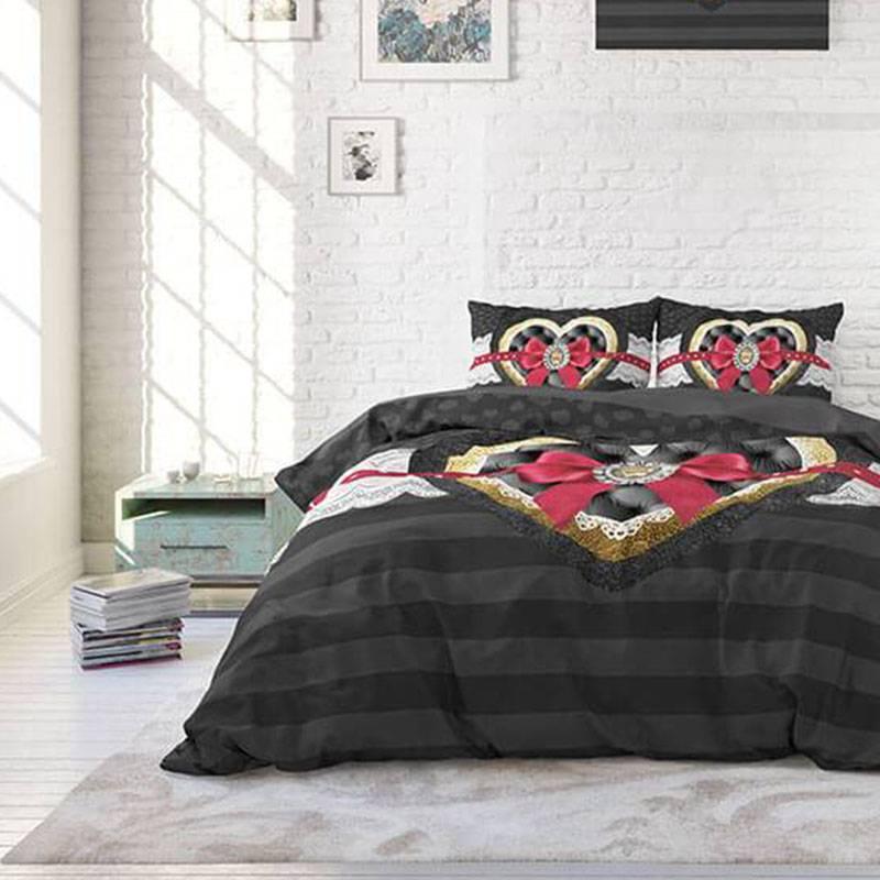 DreamHouse Bedding Diamond Ribbon Lits-jumeaux (240 x 220 cm + 2 kussenslopen) Dekbedovertrek