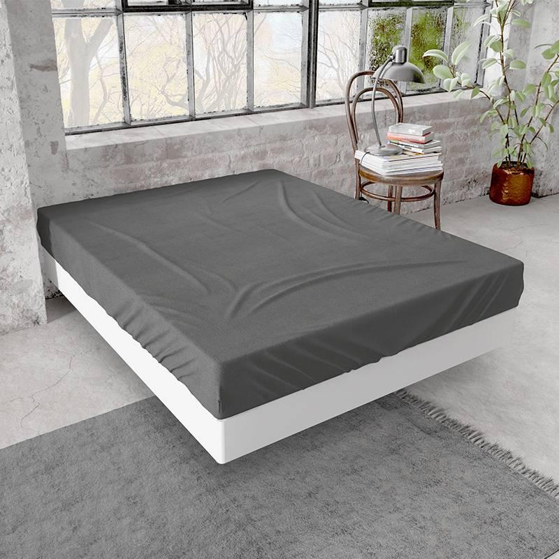 Dreamhouse Verwarmend Flanellen Hoeslaken - Antraciet 200 x 200/210/220 cm