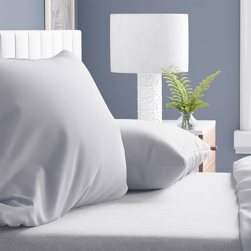 DreamHouse Bedding 2-PACK: Verwarmende Flanellen Kussenslopen - Wit