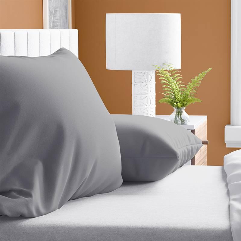 DreamHouse Bedding 2-PACK: Verwarmende Flanellen Kussenslopen - Grijs