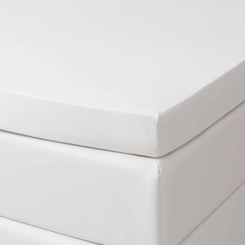 1+1 Gratis - Jersey Stretch Splittopper Hoeslakens - Creme Dekbed Discounter 140 x 200/210 cm
