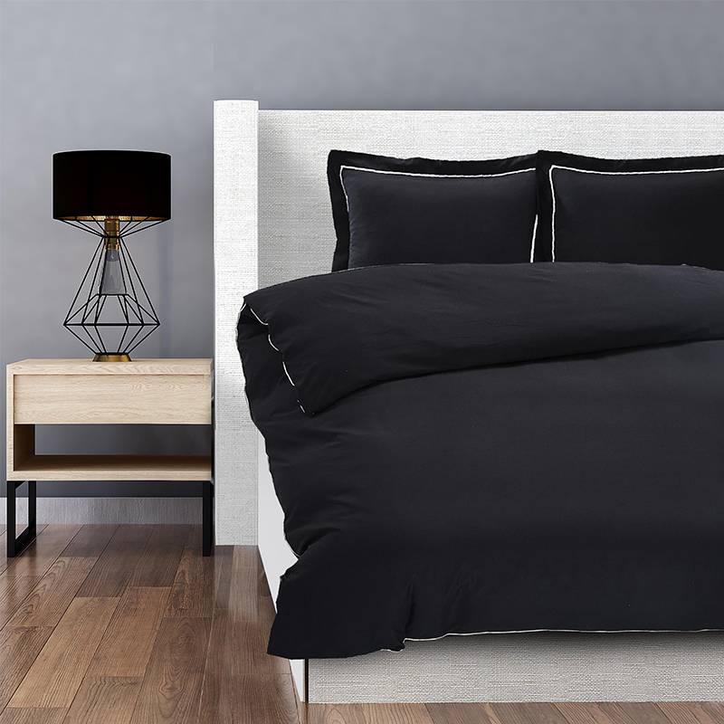 Hotel Home London - Zwart Lits-jumeaux (240 x 200/220 cm + 2 kussenslopen) Dekbedovertrek